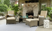Outdoor/Indoor Wicker Reclining Lounge Set on Sale at Gooddegg
