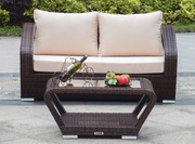 Wicker Loveseat with Coffee Table on Sale at Gooddegg Online store