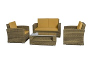 Wicker 4 Piece Conversation Set