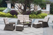 All Weather Wicker Reclining Lounge Chairs and Loveseat
