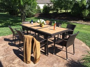 Valentine's Sale - All Weather Wicker Extendable Dining Set