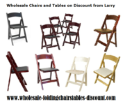 Resin Mahogany Folding Chair at Wholesale Chairs and Tables Discount