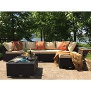 Patio Wicker 6 Piece Sectional Sofa Set On Sale