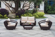 Patio Wicker Raki Conversation Set On Sale