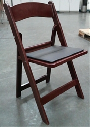 Mahogany Resin Folding Chair at Larry Hoffman