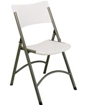 Molded White Folding Chair