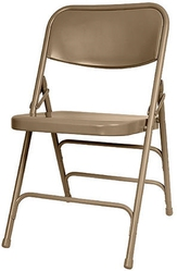 BEIGE METAL FOLDING CHAIR BY Discount Folding Chairs Tables Larry