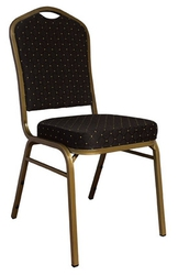 Black Diamond Fabric Banquet Chair With Steel Frame