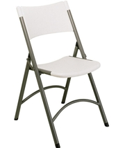 Molded White Folding Chair by Larry Hoffman