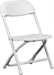 White Kids Folding Chair - Chiavari Chairs Larry