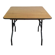 Square Plywood Folding Table - Folding Chairs Tables Larry