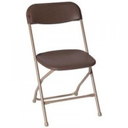 Brown Poly Folding Chair - Folding Chair Larry Hoffman