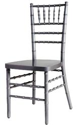 Silver Wood Chiavari Chair with Free Cushion