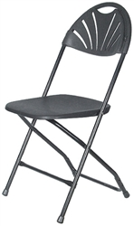 Black Fan Folding Chair - Larry Hoffman Chair