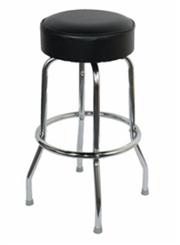 Single Ring Chrome Barstool - Chair Company Larry Hoffman